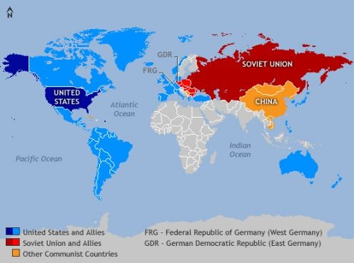 Map Of Asia During The Cold War.The Cold War The Retreat From Empire In A Bipolar World